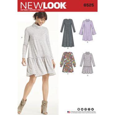 New-Look-sweaater-dress-pattern-6525-envelope-front