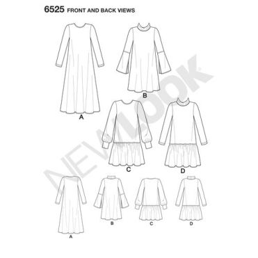 New-Look-sweaater-dress-pattern-6525-front-back-view