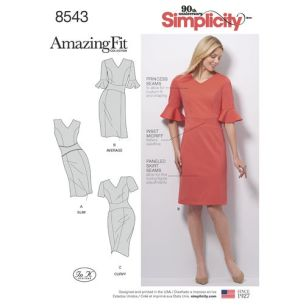 simplicity-amazing-fit-dress-pattern-8543-envelope-front